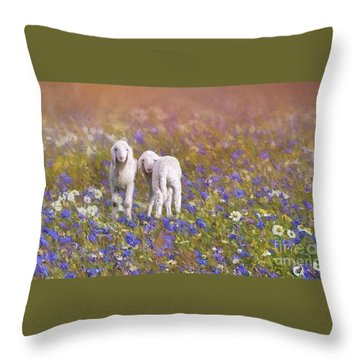 New Life Throw Pillow by Eva Lechner
