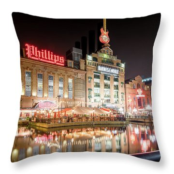 New Life Of Old Power Plant Throw Pillow