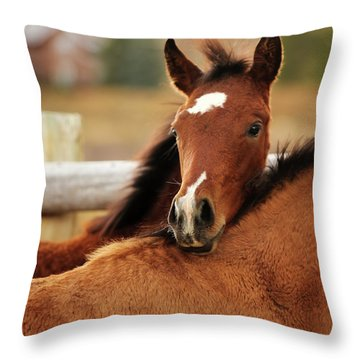 New Life Throw Pillow by Sharon Jones