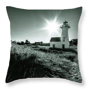 Throw Pillow featuring the photograph New London Light Behind Dunes by Chris Bordeleau