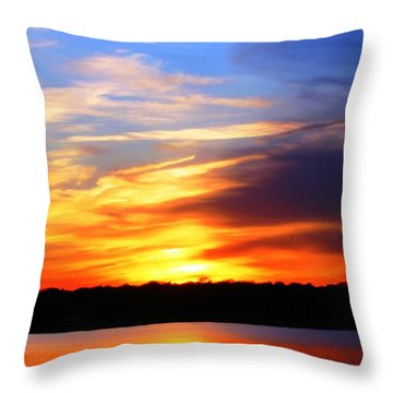 New Longview Sunset Throw Pillow