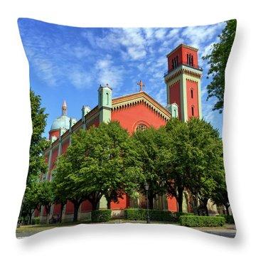 New Lutheran Church In Kezmarok, Slovakia Throw Pillow by Elenarts - Elena Duvernay photo