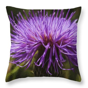 New Mexican Thistle Throw Pillow