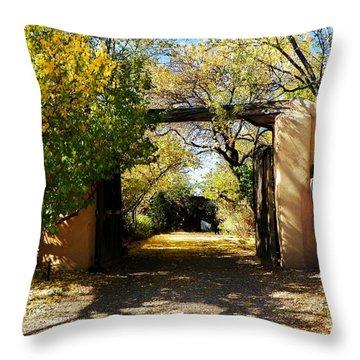 New Mexico Adobe Throw Pillow