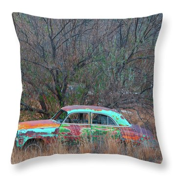 New Mexico Blue Throw Pillow by Carolyn Dalessandro
