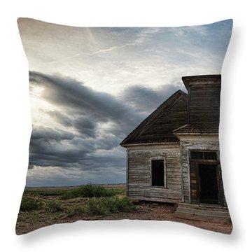 New Mexico Church Throw Pillow