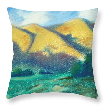 New Mexico Hills Throw Pillow