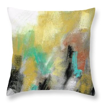 Throw Pillow featuring the painting New Mexico Horse 4 by Frances Marino