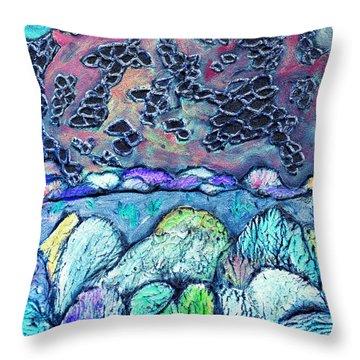 New Mexico Landscape Throw Pillow by Wayne Potrafka