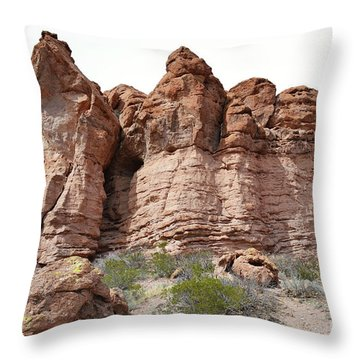 Throw Pillow featuring the photograph New Mexico Mountain Canyon by Andrea Hazel Ihlefeld