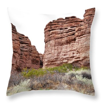 Throw Pillow featuring the photograph New Mexico Red Rock Mountain Canyon by Andrea Hazel Ihlefeld