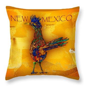 New Mexico Roadrunner Throw Pillow
