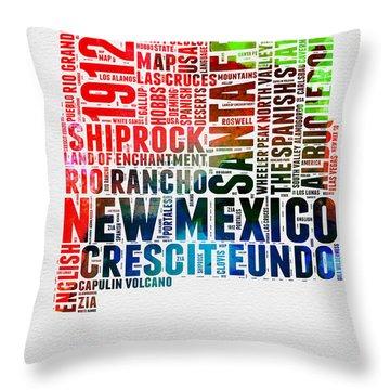 New Mexico Digital Art Throw Pillows