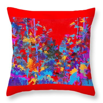 New Mexico Woods Throw Pillow