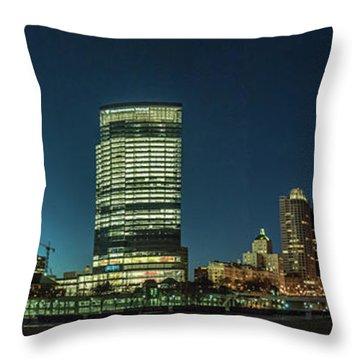 Throw Pillow featuring the photograph New Milwaukee Skyline by Randy Scherkenbach