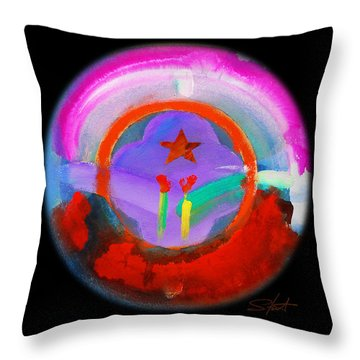 New Morning Throw Pillow by Charles Stuart