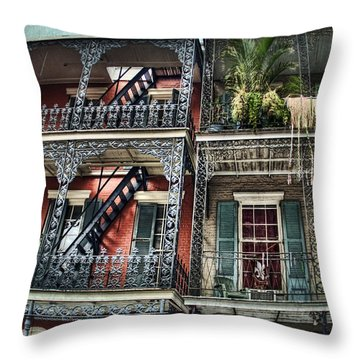 New Orleans Balconies No. 4 Throw Pillow by Tammy Wetzel