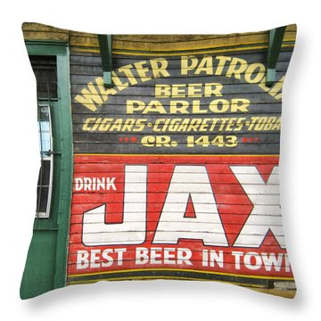 New Orleans Beer Parlor Throw Pillow