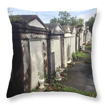 New Orleans Cemetery Throw Pillow