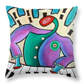 New Orleans Cool Jazz Piano Throw Pillow
