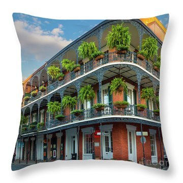New Orleans House Throw Pillow by Inge Johnsson