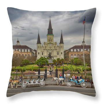 New Orleans Jackson Square Throw Pillow