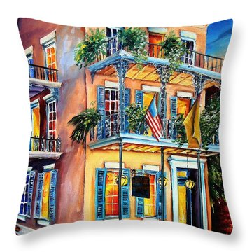 New Orleans' La Fitte's Guest House Throw Pillow by Diane Millsap