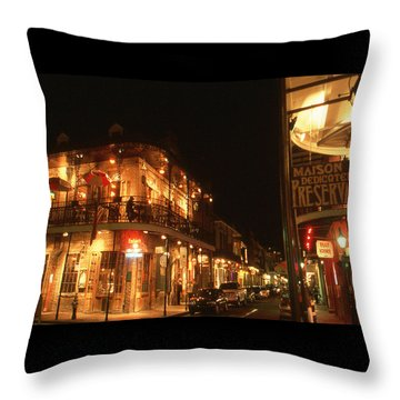 New Orleans Jazz Night Throw Pillow