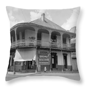 New Orleans Pharmacy Throw Pillow by The Granger Collection