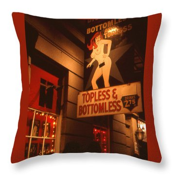 New Orleans Topless Bottomless Sexy Throw Pillow
