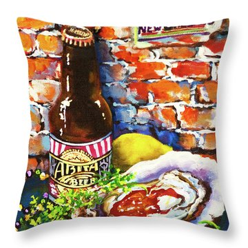 New Orleans Treats Throw Pillow