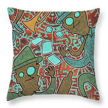 New Orleans Voodoo Throw Pillow
