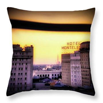 New Orleans Window Sunrise Throw Pillow