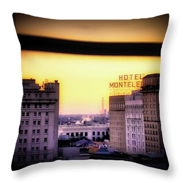 New Orleans Window Sunrise Throw Pillow