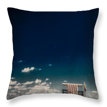 Throw Pillow featuring the photograph New Paint For Old Glory by Melinda Ledsome