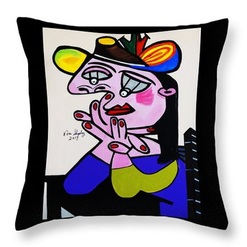 New Picasso  Bug Eye Throw Pillow