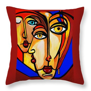 New Picasso By Nora Friends Throw Pillow