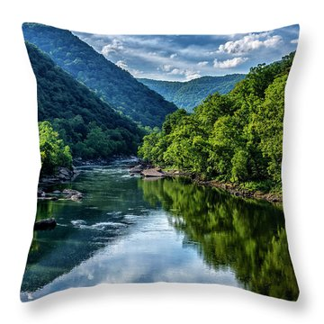 New River Gorge National River 3 Throw Pillow
