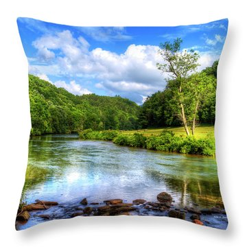 New River Summer Throw Pillow by Dale R Carlson