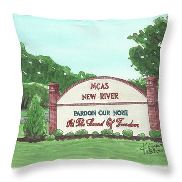 New River Welcome Throw Pillow