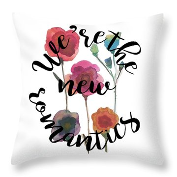 New Romantics Throw Pillow by Patricia Abreu