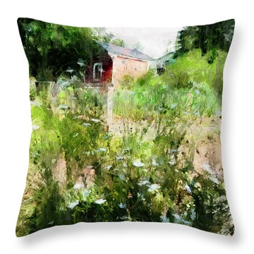 New Roots Throw Pillow by Claire Bull