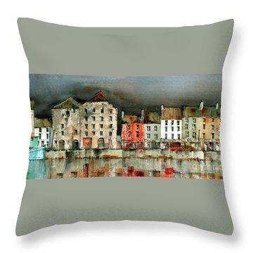 New Ross Quays Panorama Throw Pillow