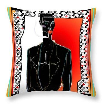 Amazing Grace Jones Throw Pillow