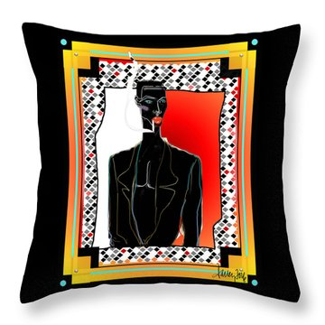 Amazing Grace Jones Throw Pillow