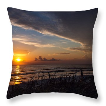 New Smyrna Beach Throw Pillow