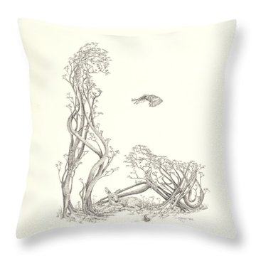 New Spring Throw Pillow by Mark Johnson
