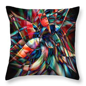 New Star Throw Pillow by Linda Sannuti