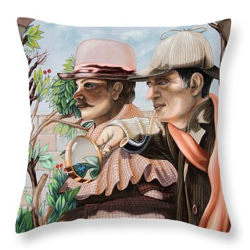 New Story By Sir Arthur Conan Doyle About Sherlock Holmes Throw Pillow