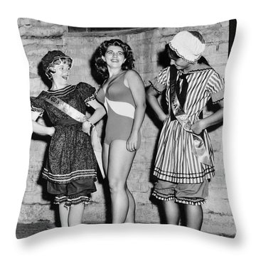 New Swimwear Meets Old Throw Pillow